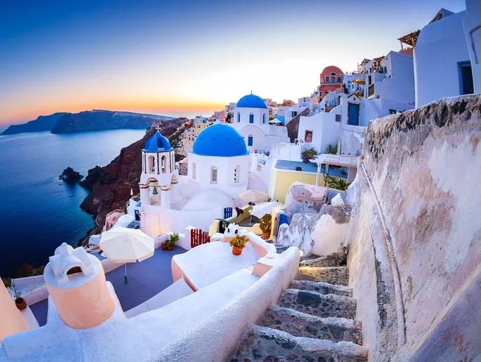 Hd Wallpaper Sea Beach The Magical Island Of Santorini Greece