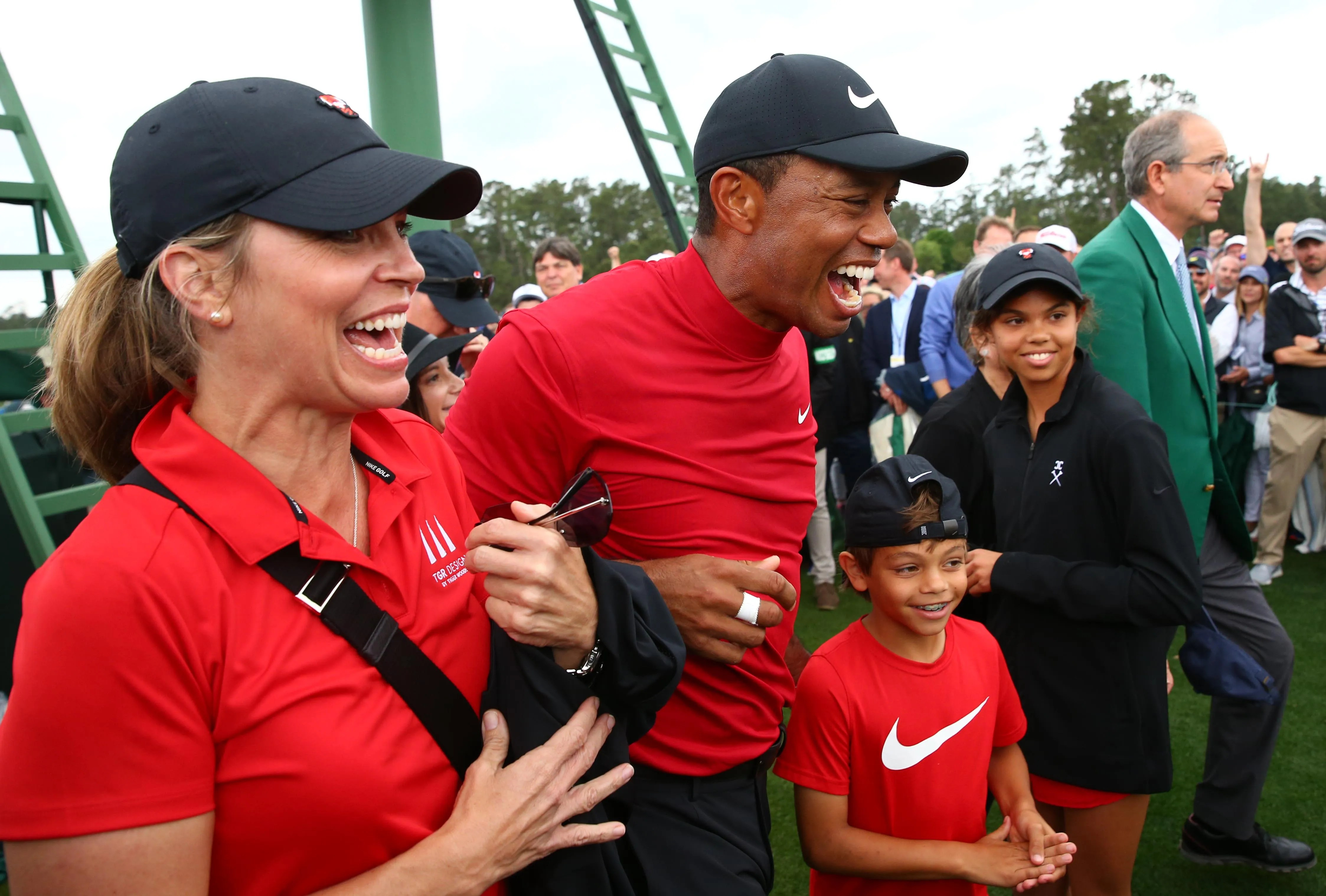 pictures of tiger woods children at masters movies augusta