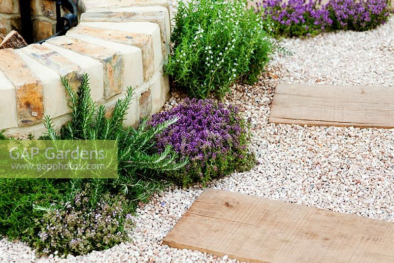Gap Gardens Gravel Path With Railway Sleepers In The