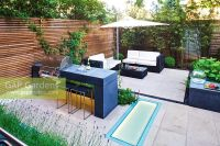 GAP Gardens - Modern garden with barbecue and dining area ...