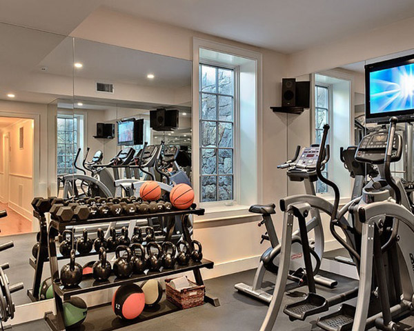 Garage gym inspirations ideas gallery pg 2 for Small exercise room