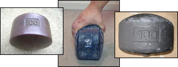 Blobs are made from York Legacy dumbbells
