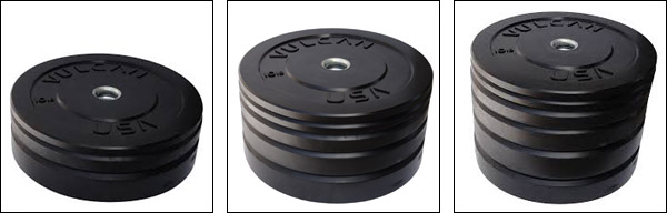 Bumper Plate Sets 160, 260, and 350 pounds