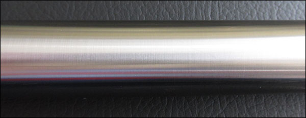 Close up of the stainless steel shaft