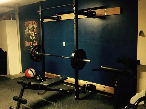 Rogue rml w folding wall mounted power rack garage gyms