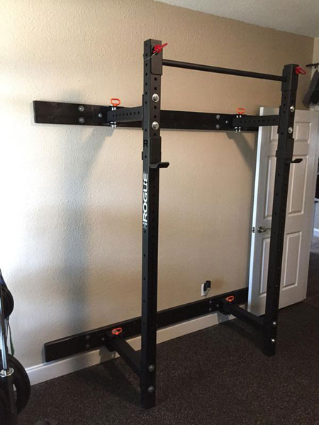 how to make a wall mounted squat rack