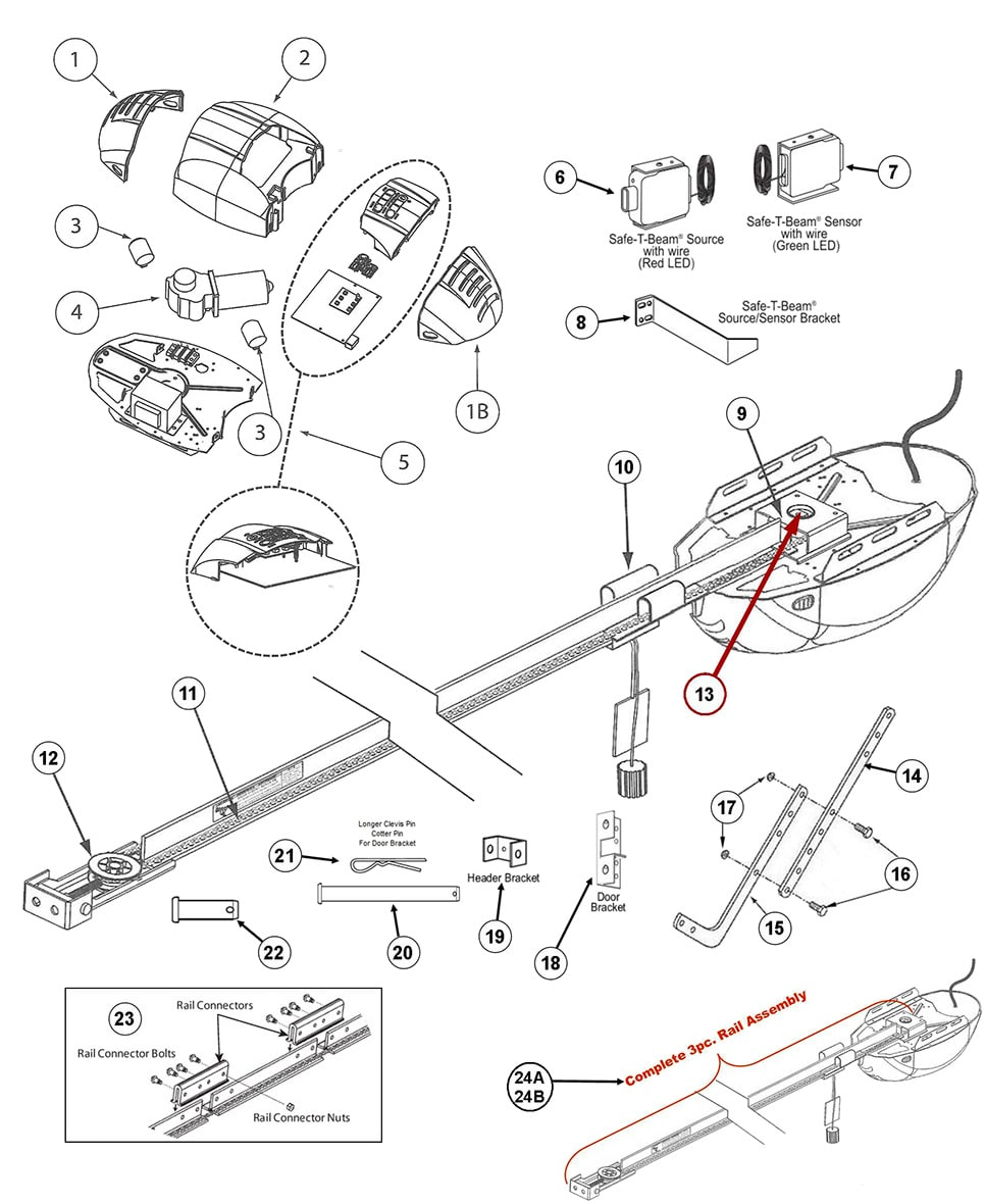 genie garage door schematic