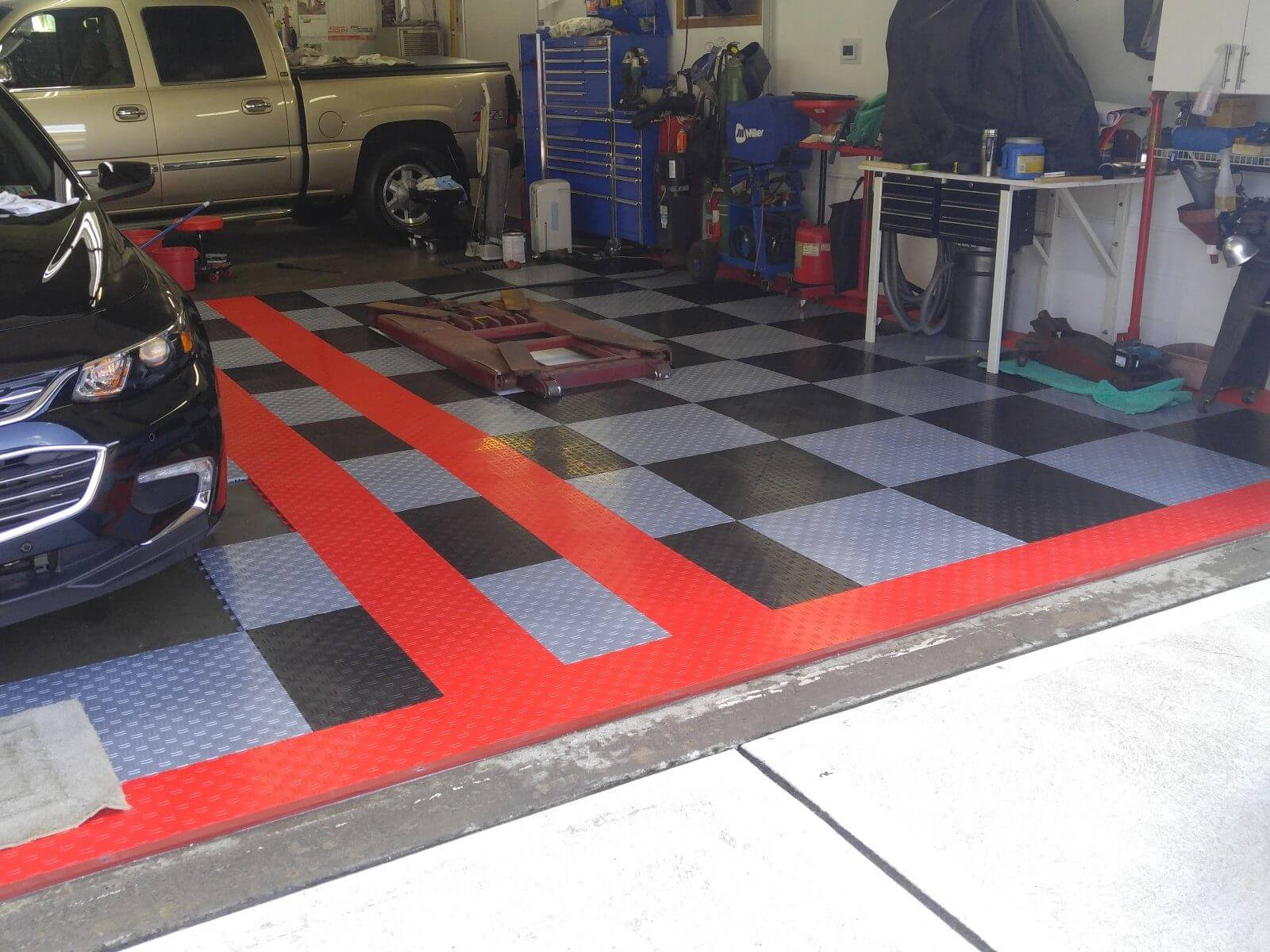 garage design embrace garage floor tiles why truelock hd why truelock hd garage floor tiles garage floor tiles randy z s black and silver with dailygadgetfo Gallery