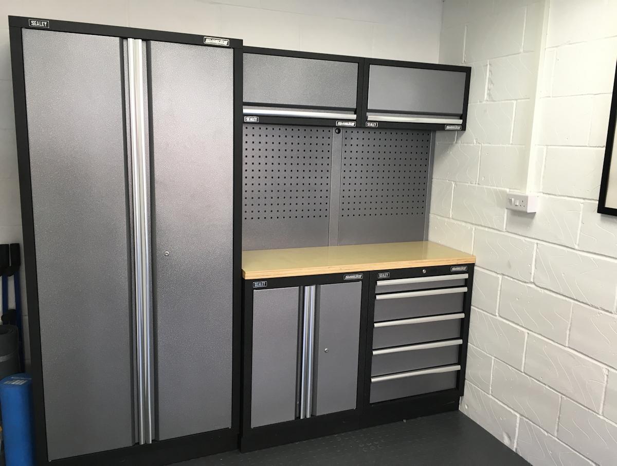 Garage Interior Pictures Cabinets Flooring Wall Storage