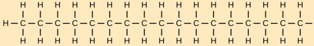 Jaantus 2.8 Silsilad haaydrokaarboon ah oo ka samaysan kaarboon iyo haydrojiin. Xigashada sawirka © OpenStax College [CC BY 3.0].