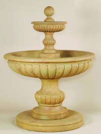 Athene 2-Tier Outdoor Water Fountain: Medium Tiered Water ...