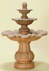 Mallorca Three-Tiered Fountain: Medium Tiered Water Fountains