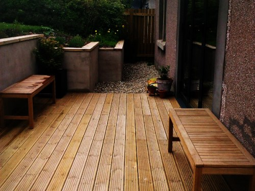 Timber decking and copings