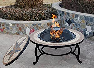 Get Saltillo Table Firepit Large Fire Bowl Garden Heater