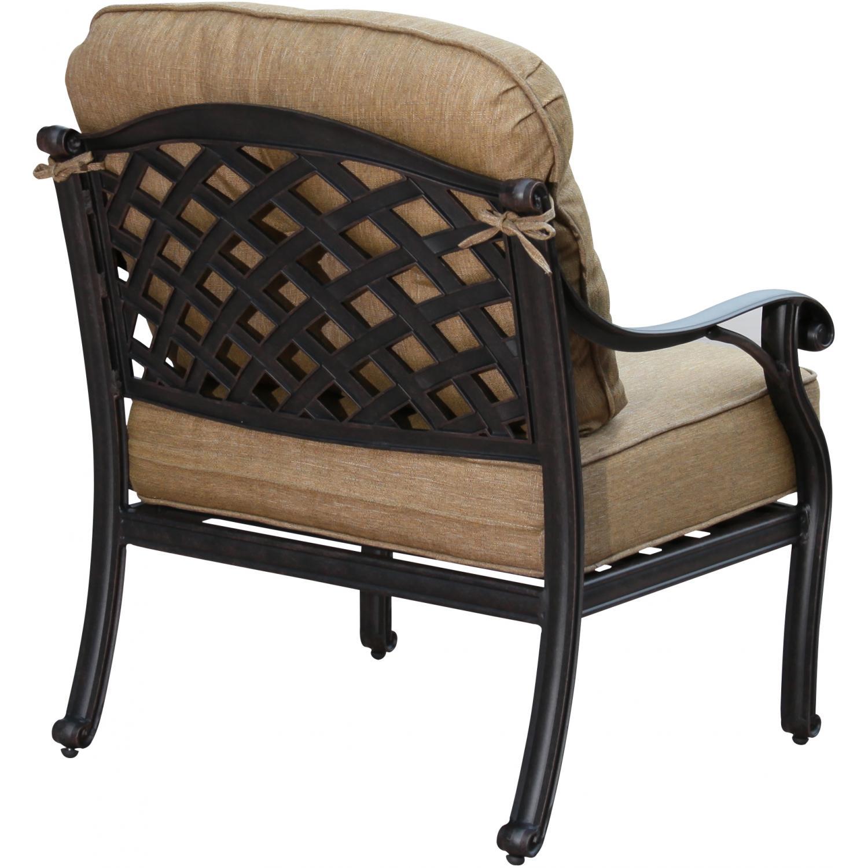 Patio Furniture Chat Group Cast Aluminum Bbq Fire Pit Tea
