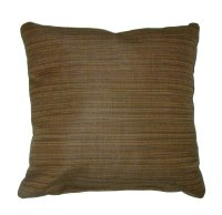 "Throw Pillow Indoor/Outdoor 17"" Square Sunbrella Stripe"