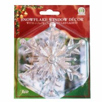 """4"""" Color Changing Snowflake Window Decoration at Garden ..."""