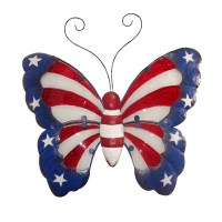 "14"" Americana Butterfly Wall Decor 