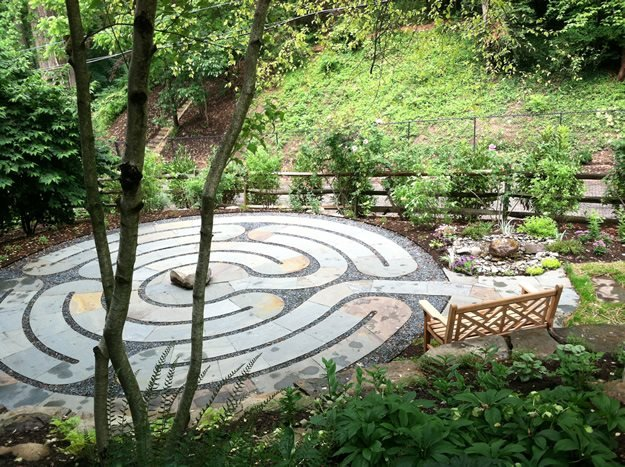 Healing Labyrinth Garden Garden Design - labyrinth garden design