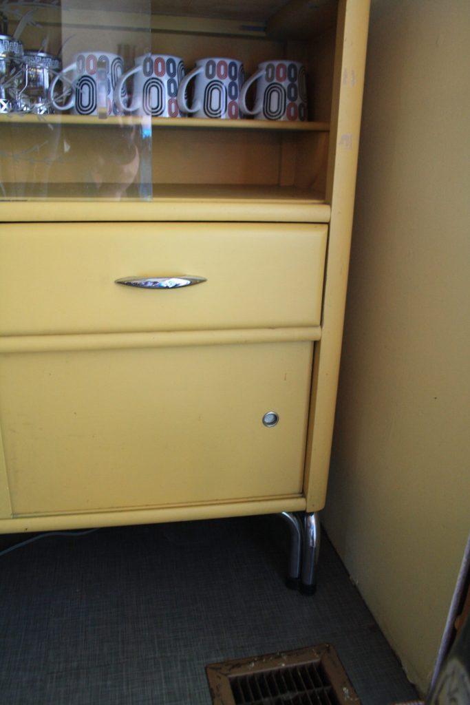 vintage coffee bar chrome legs