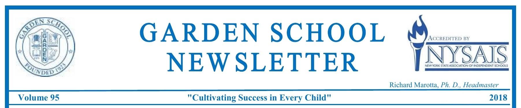 School Newsletters \u2013 Garden School