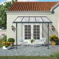 Palram Sierra Patio Cover Grey | Garden Street