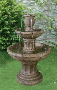3 Tier Classic Stone Fountain  Garden Water Features Depot