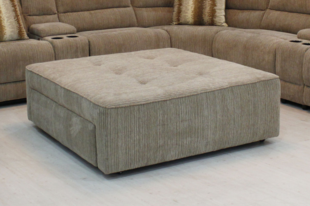 Tufted Ottoman With Skirt & Ballard Storage Ottoman - Listitdallas
