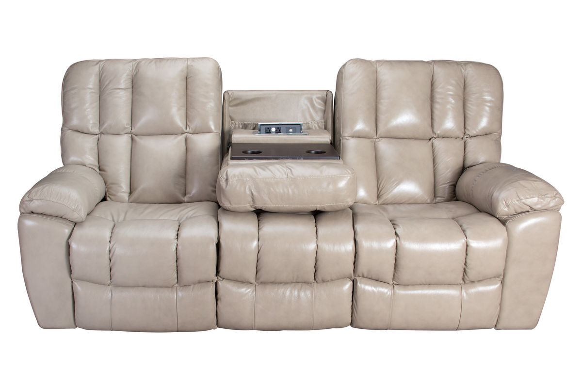 Toronto Gliding Reclining Sofa with Drop Down Table at