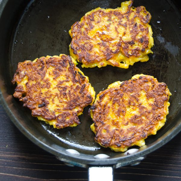 butternut fritters with lemon ch?vre | Garlic + Zest