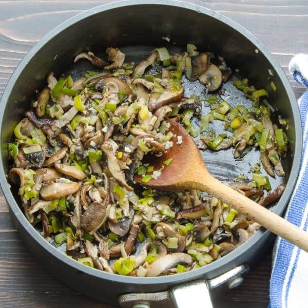 wild mushroom and leek crostini | Garlic + Zest
