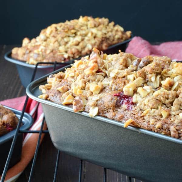 cranberry nut pumpkin loaves | Garlic + Zest