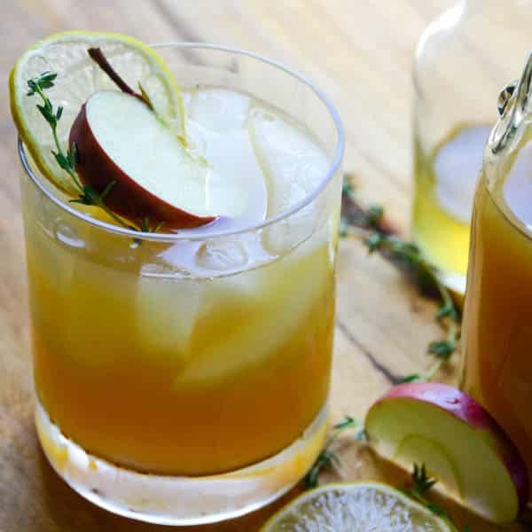 bourbon cider punch | Garlic + Zest