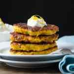 Butternut Fritters with Lemon Chèvre | Garlic + Zest