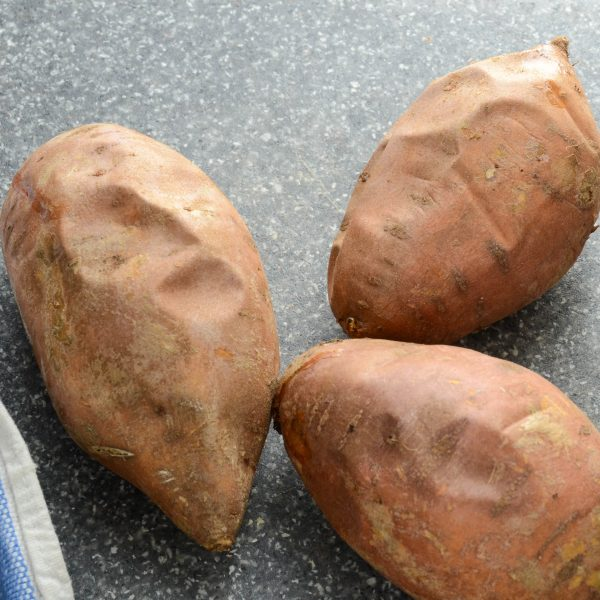 twice-baked sweet potato gratin | Garlic + Zest