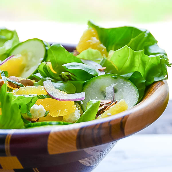 Simple Citrus Almond Salad | Garlic + Zest