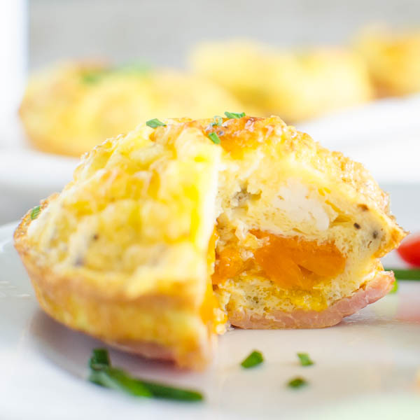 Bacon n' Egg Pepper Muffins | Garlic + Zest