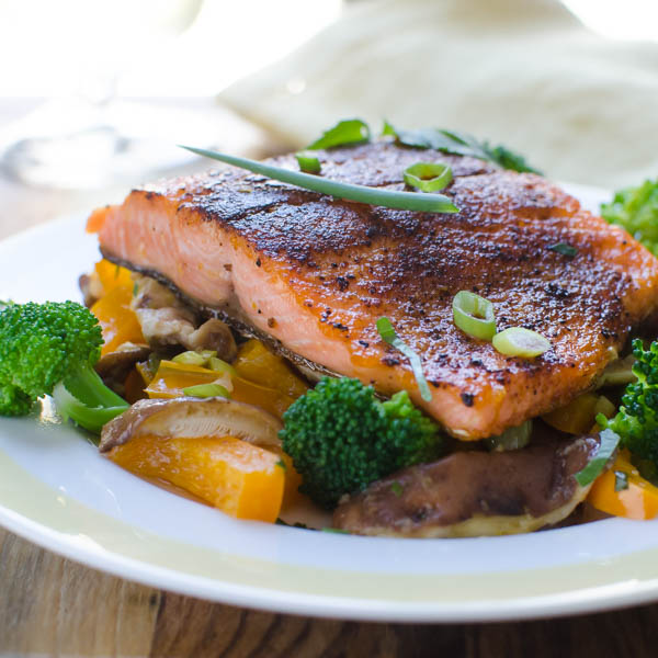 Spiced Pan-Seared Salmon | Garlic + Zest