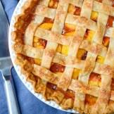 Fresh Peach Pie with Lattice Crust   Garlic + Zest