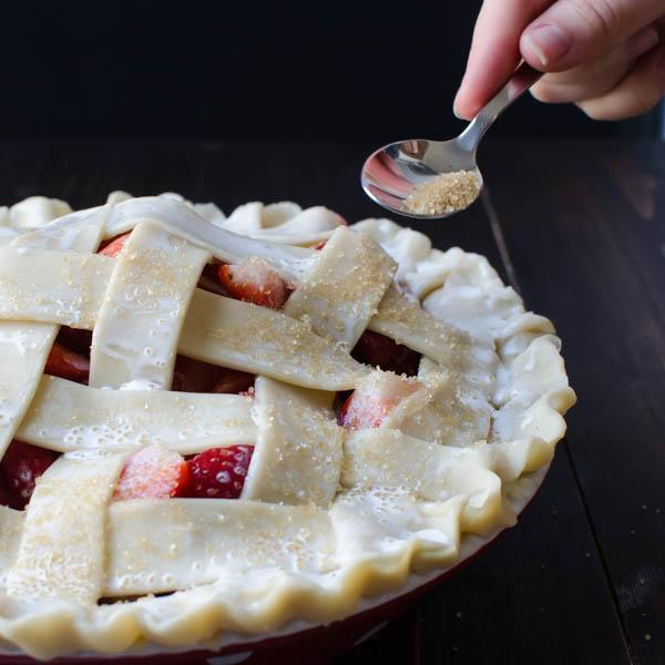 Old-Fashioned Strawberry Rhubarb Pie   Garlic + Zest
