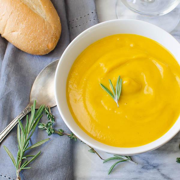 Apple Butternut Bisque | Garlic & Zest