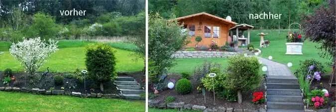 Gartenhaus in Hanglage Aufbau, Einrichtung und Gartengestaltung - gartengestaltung hanglage