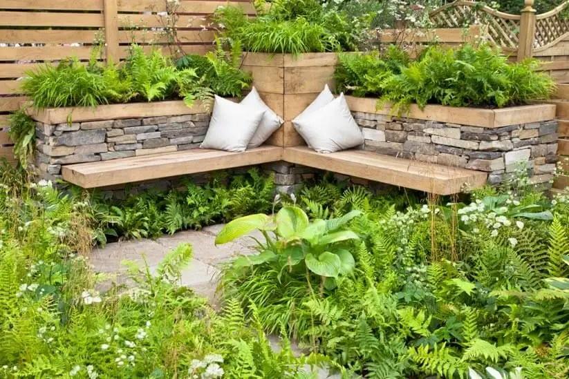 Garten Sitzecke gestalten Ideen für kleine \ große Gärten - garten gestalten bilder