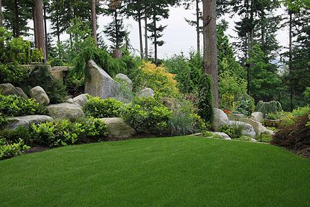 Moderne Gartengestaltung \ Ideen mit Steinen, Kies, Pflanzen - gartengestaltung ideen beispiele