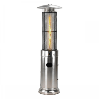Glow Warm Commercial Flame Patio Heater - Stainless Steel