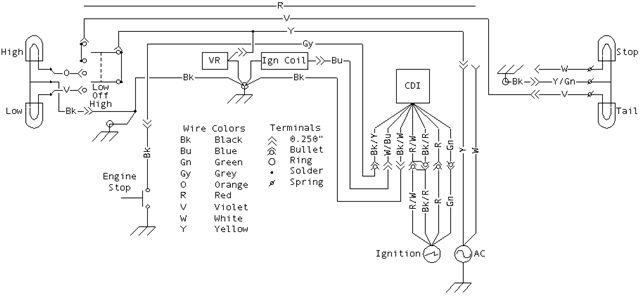 husqvarna wr 250 wiring diagram