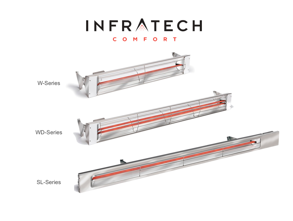 Electric Patio Heaters Infrared, Portable  Wall-Mount Outdoor Units