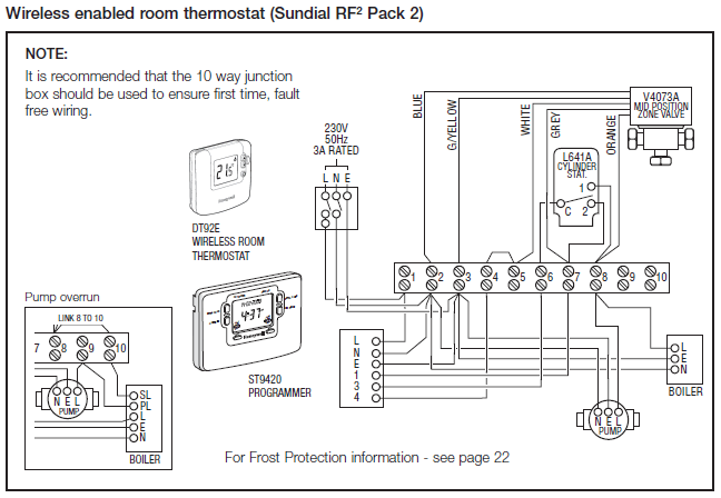 honeywell wiring diagram y plan