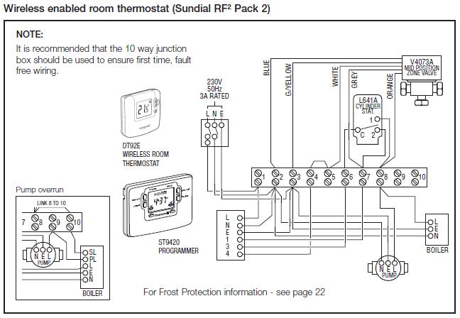 y plan wiring diagram honeywell