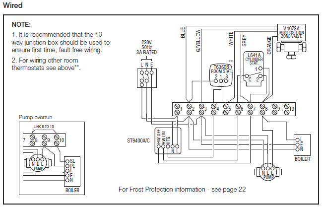 honeywell central heating wiring diagram
